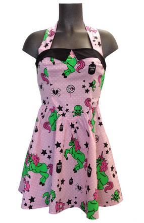 I heart zombie dress hell bunny pink