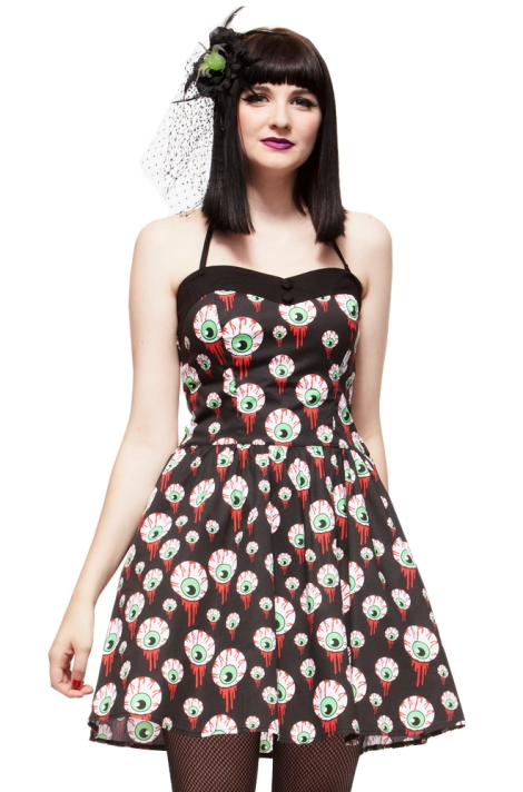 eyeball dress hell bunny